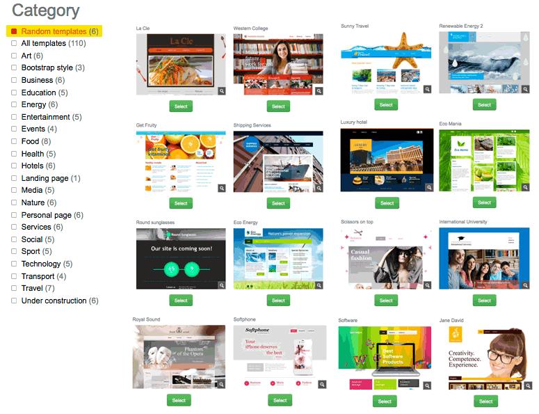 Web Builder Templates. get webdwarf free easy web page maker ...